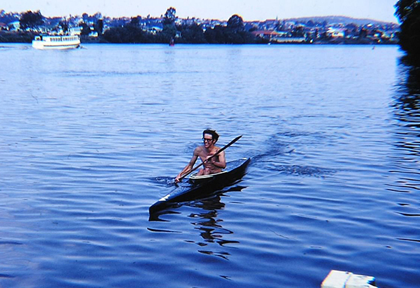 214-1968 - the Warana Festival with Paul paddling a K1 kayak. - PC Brisbane R K1 1968.jpg